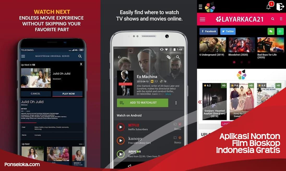 Aplikasi Nonton Film Bioskop Indonesia Gratis