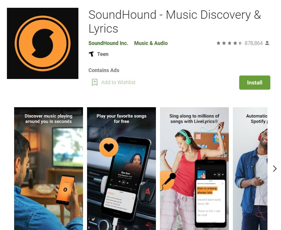 Aplikasi Pencari Lagu di Android